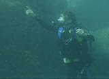 Jeff in scuba gear, diving.